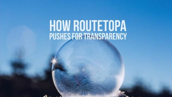 Τρεις τρόποι που το ROUTETOPA συνηγορεί υπέρ της διαφάνειας
