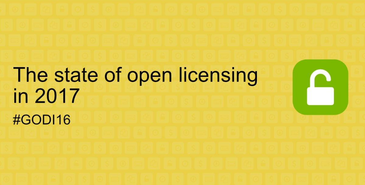 Η κατάσταση της ανοικτής αδειοδότησης το 2017