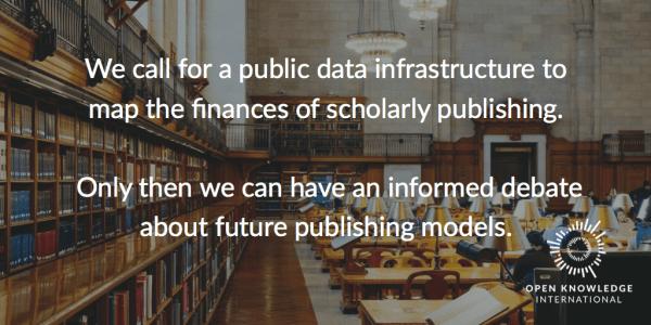 Κατανοώντας το κόστος των ακαδημαϊκών εκδόσεων – Γιατί χρειαζόμαστε μια δημόσια υποδομή δεδομένων για τις δαπάνες δημοσίευσης