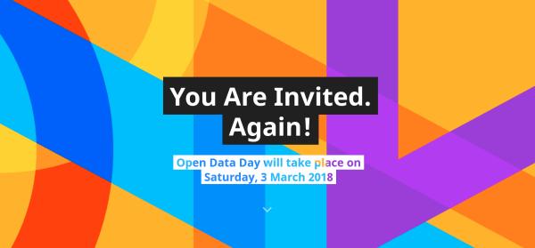 Open Data Day – 3 Μαρτίου 2018: Είστε καλεσμένοι!